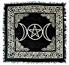 Gold/Black Triple Moon Altar Cloth 18 x 18