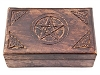 PENTACLE CARVED WOODEN BOX - 5