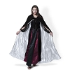 Black Velvet Cloak White Satin Lining