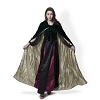 DARK GREEN/WITH GOLD LINING VELVET CLOAK MEDIUM