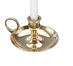 BRASS CHAMBERSTICK (MINI CANDLE)