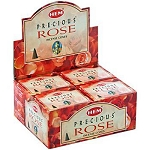 HEM PRECIOUS ROSE CONE INCENSE
