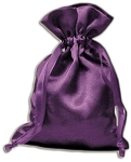 PURPLE SATIN POUCH