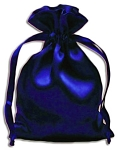 ROYAL BLUE SATIN POUCH