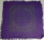 TRIQUETRA ALTAR CLOTH - PURPLE 22