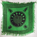 MOON PHASE LABYRINTH ALTAR CLOTH 18 x 18