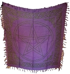 PENTAGRAM ALTAR CLOTH PURPLE 36