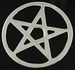 ALTAR TILE - PENTACLE JAI-CUT 2 3/4