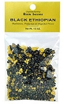 BLACK ETHIOPIAN RESIN INCENSE - 1/2 OZ.