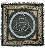 TRIQUETRA IN GOLD & SILVER ALTAR CLOTH - 36