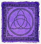 TRIQUETRA IN PURPLE ALTAR CLOTH  - 36