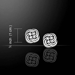 Celtic Knotwork Silver Earrings TE1038