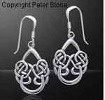 Celtic Knotwork Silver Earrings