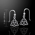 Triquetra Silver Earrings