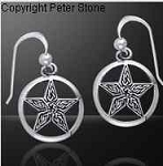 KNOTWORK PENTACLE EARRINGS
