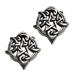 HEART PENTACLE STUDS