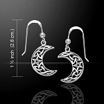 Magick Moon Silver Earrings