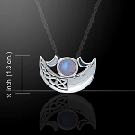 CRESCENT MOON W/GEMSTONE