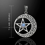 PENTACLE W/KNOTWORK CRESCENT