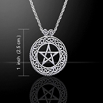 PENTACLE W/KNOTWORK & SCROLL