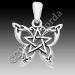 BUTTERFLY PENTACLE PENDANT SM