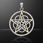 MYSTICAL PENTACLE SANDBRUSHED(RINGED)