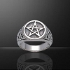 PENTACLE RING W/TRIQUETRA