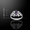 CELTIC TRINITY RING WITH AMETHYST