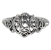 HEART PENTACLE RING NO STONE