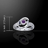 LUNAR TIDES RING WITH AMETHYST