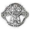 CUT OUT TREE PENTACLE RING