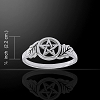 OAK LEAF PENTACLE RING