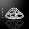 EYE OF HORUS RING  WITH AMETHYST