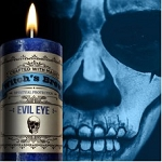 Evil Eye Witches Brew Pillar Candle