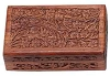 FLORAL CARVED WOODEN BOX 5