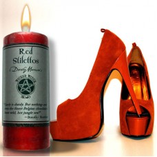 Red Stilettos Wicked Witch Candle