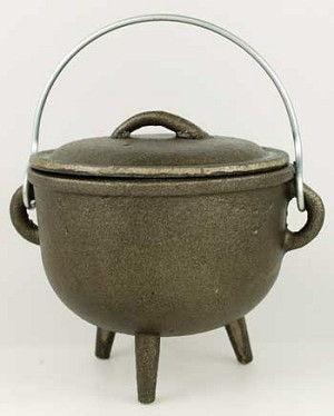 PLAIN CAULDRON W/LID MED