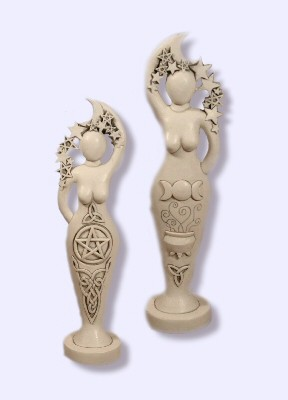 Pentacle Goddess White