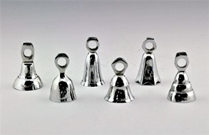 "ASSORTED BELLS IN CHROME - 2""H"