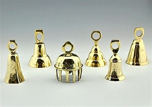 ASSORTED BRASS BELL 3""