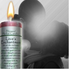 LOVES ENCHANTMENT BLESSED HERBAL CANDLE