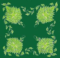 GREEN MAN ALTAR CLOTH 36 x 36