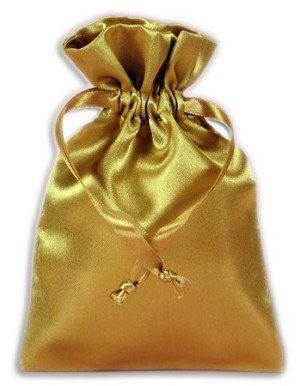 GOLD SATIN POUCH