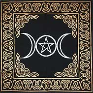 "TRIPLE MOON ALTAR CLOTH 24"" X 24"""