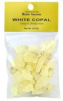 WHITE COPAL RESIN INCENSE - 3/4 OZ.