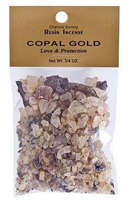 COPAL GOLD RESIN INCENSE - 3/4 OZ.