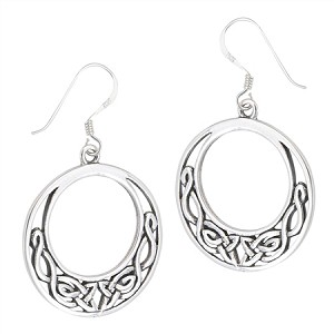 ROUND INTERWOVEN CELTIC EARRING