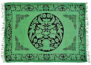 "Green Man Altar Cloth & Sarong 42""X68"