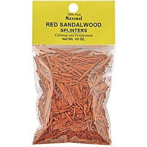 NATURAL RED SANDALWOOD SPLINTERS 1/2 OZ