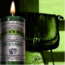 Witches Purse Witches Brew Pillar Candle